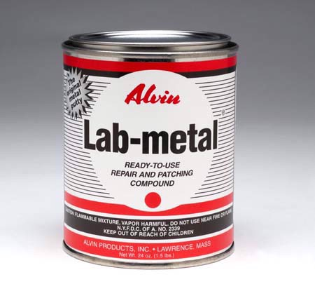 Metal repair putty, dent filler and patching compound - Lab-metal (48 oz. can)
