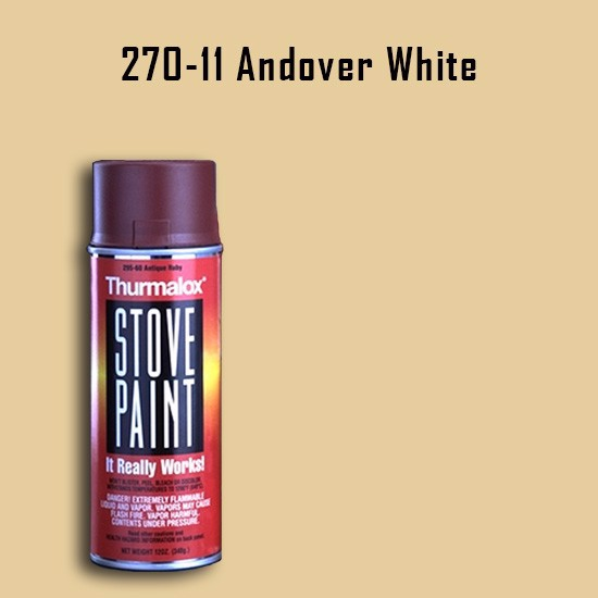 Fireplace Paint Colors  - Thurmalox Andover White Stove Paint - 12 oz. Aerosol Spray Can