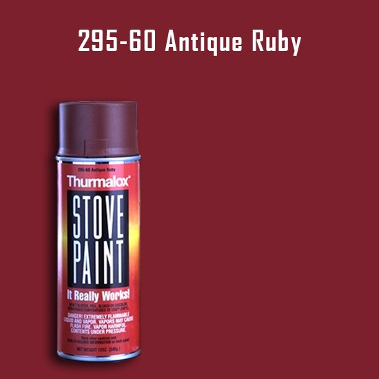 Heat Resistant Paint Colors  - Thurmalox Antique Ruby Wood Stove Paint - 12 oz. Aerosol Spray Can