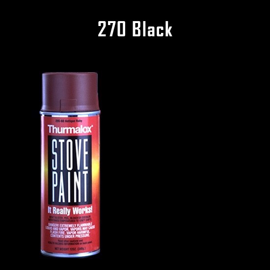 Heat Resistant Paint Colors  - Thurmalox Flat Black Stove Paint - 12 oz. Aerosol Spray Can
