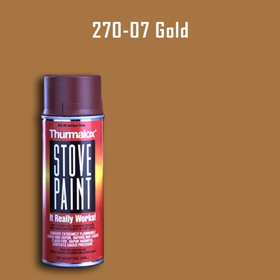 Heat Resistant Paint Colors  - Thurmalox Gold Wood Stove Paint - 12 oz. Aerosol Spray Can