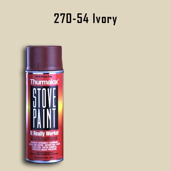 Heat Resistant Paint Colors  - Thurmalox Ivory Wood Stove Paint - 12 oz. Aerosol Spray Can