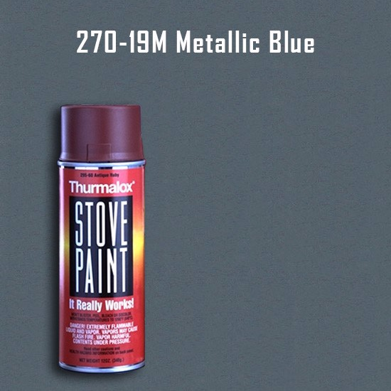 Heat Resistant Paint Colors  - Thurmalox Metallic Blue Stove Paint - 12 oz. Aerosol Spray Can