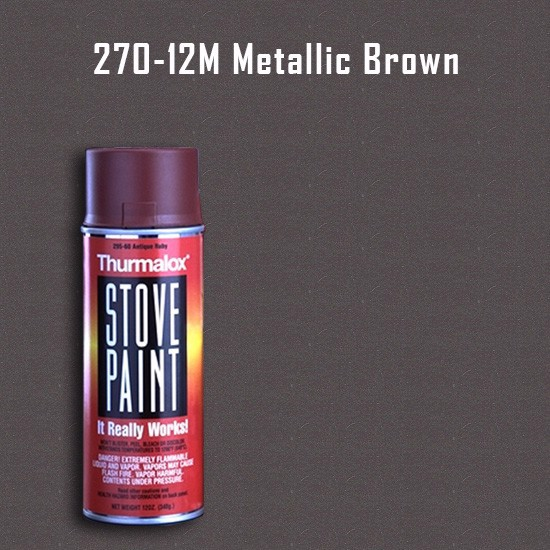 Heat Resistant Paint Colors  - Thurmalox Metallic Brown Stove Paint - 12 oz. Aerosol Spray Can