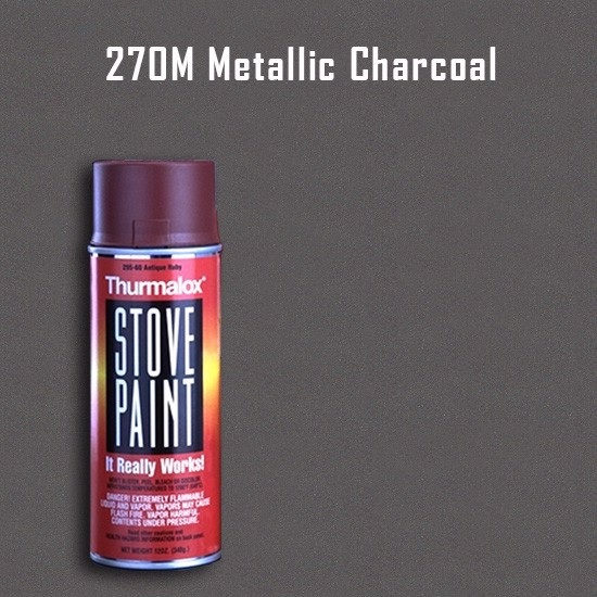 Heat Resistant Paint Colors  - Thurmalox Metallic Charcoal Stove Paint - 12 oz. Aerosol Spray Can