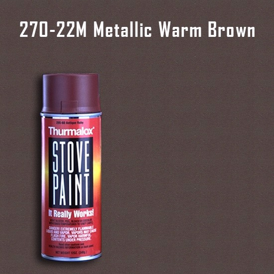 Heat Resistant Paint Colors  - Thurmalox Metallic Warm Brown Stove Paint - 12 oz. Aerosol Spray Can