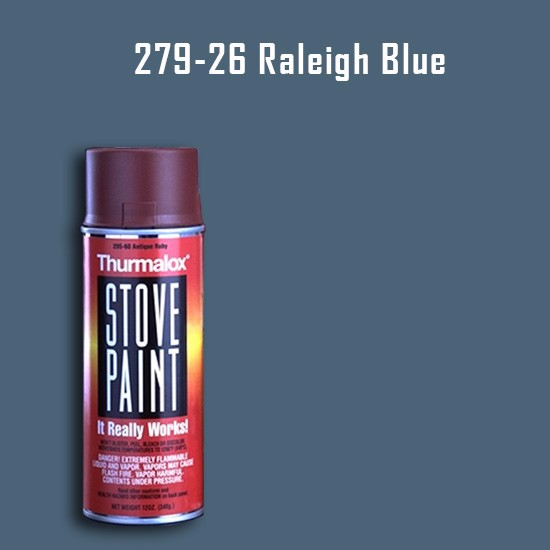 Heat Resistant Paint Colors  - Thurmalox Raleigh Blue Stove Paint - 12 oz. Aerosol Spray Can
