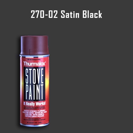 Heat Resistant Paint Colors  - Thurmalox Satin Black Stove Paint - 12 oz. Aerosol Spray Can