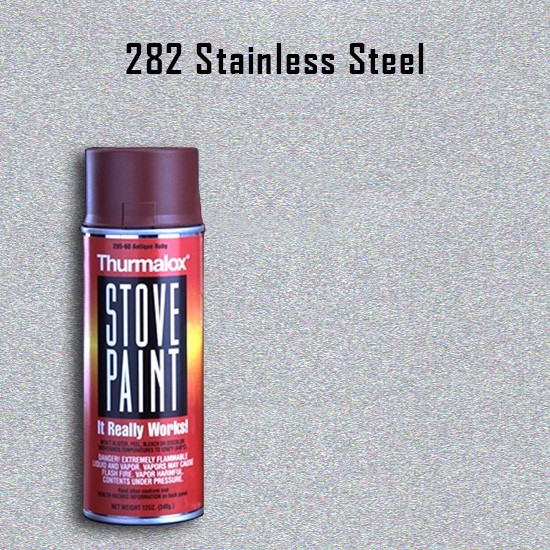 Heat Resistant Paint Colors  - Thurmalox Stainless Steel High Temperature Stove Paint - 12 oz. Aerosol Spray Can