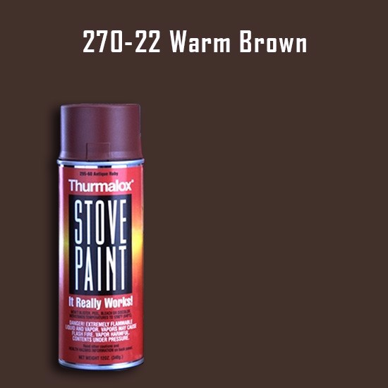 Heat Resistant Paint Colors  - Thurmalox Warm Brown Stove Paint - 12 oz. Aerosol Spray Can
