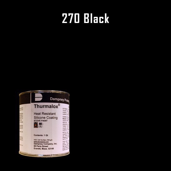 Heat Resistant Paint Colors  - Thurmalox Black High Temperature Stove Paint - 1 Quart Can