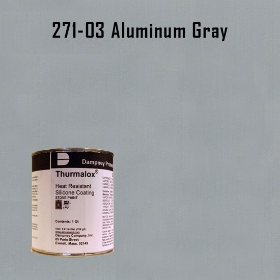 Heat Resistant Paint Colors  - Thurmalox Aluminum Gray High Temperature Stove Paint - 1 Quart Can