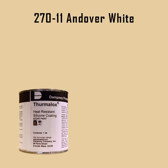Heat Resistant Paint Colors  - Thurmalox Andover White High Temperature Stove Paint - 1 Quart Can