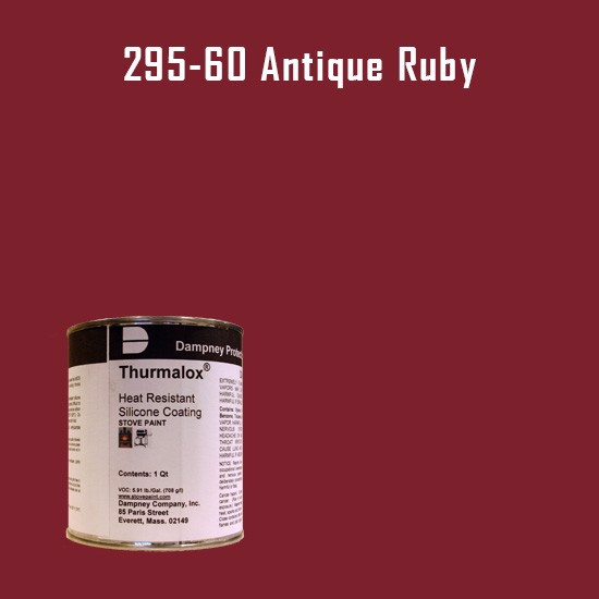 Heat Resistant Paint Colors  - Thurmalox Antique Ruby High Temperature Stove Paint - 1 Quart Can