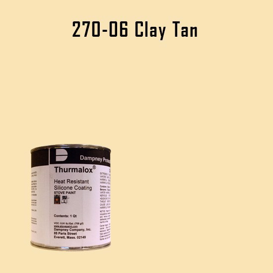 Heat Resistant Paint Colors  - Thurmalox Clay Tan High Temperature Stove Paint - 1 Quart Can