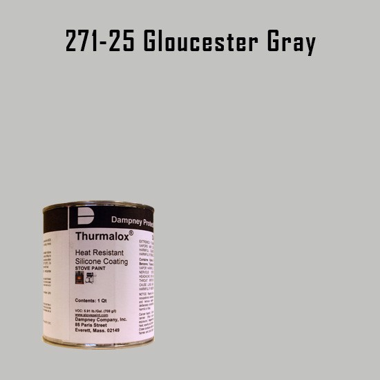 Smoker Paint Colors  - Thurmalox Gloucester Grey High Temperature Stove Paint - 1 Quart Can
