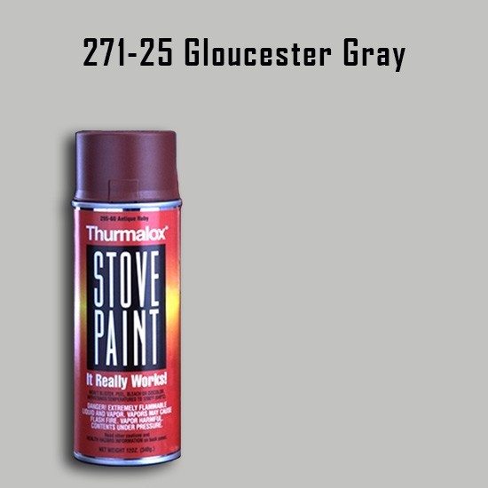 Fireplace Paint Colors  - Thurmalox Gloucester Gray Stove Paint - 12 oz. Aerosol Spray Can