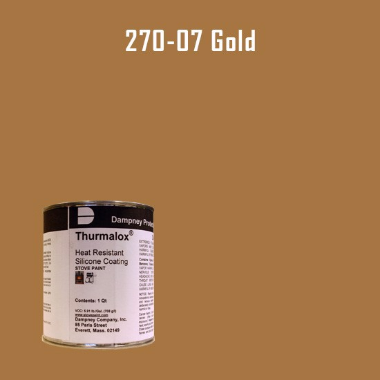 Heat Resistant Paint Colors  - Thurmalox Gold High Temperature Stove Paint - 1 Quart Can