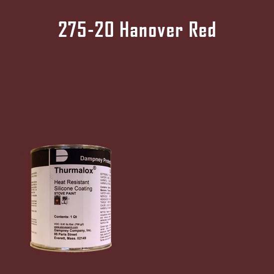 Heat Resistant Paint Colors  - Thurmalox Hanover Red High Temperature Stove Paint - 1 Quart Can