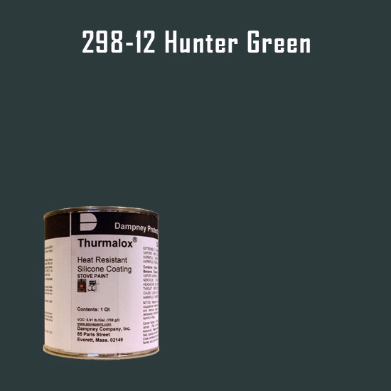 Smoker Paint Colors  - Thurmalox Hunter Green High Temperature Stove Paint - 1 Quart Can