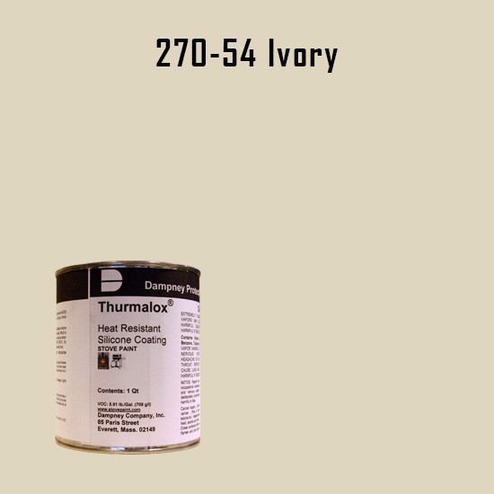 Heat Resistant Paint Colors  - Thurmalox Ivory High Temperature Stove Paint - 1 Quart Can