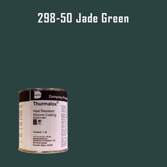 Heat Resistant Paint Colors  - Thurmalox Jade Green High Temperature Stove Paint - 1 Quart Can