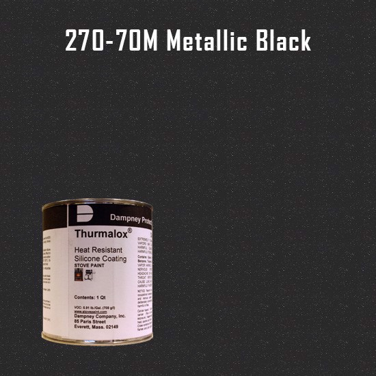 Heat Resistant Paint Colors  - Thurmalox Metallic Black High Temperature Stove Paint - 1 Quart Can