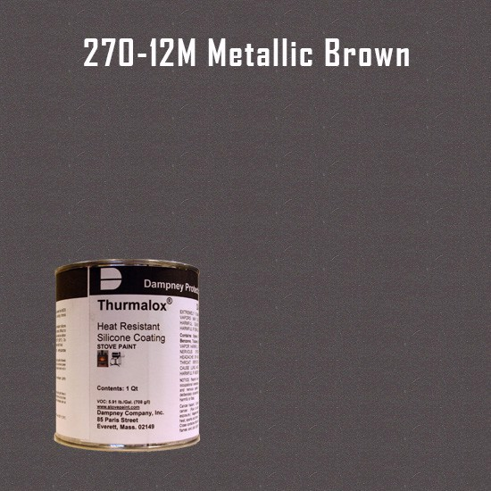 Heat Resistant Paint Colors  - Thurmalox Metallic Brown High Temperature Stove Paint - 1 Quart Can