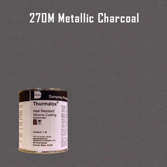 Heat Resistant Paint Colors  - Thurmalox Metallic Charcoal High Temperature Stove Paint - 1 Quart Can
