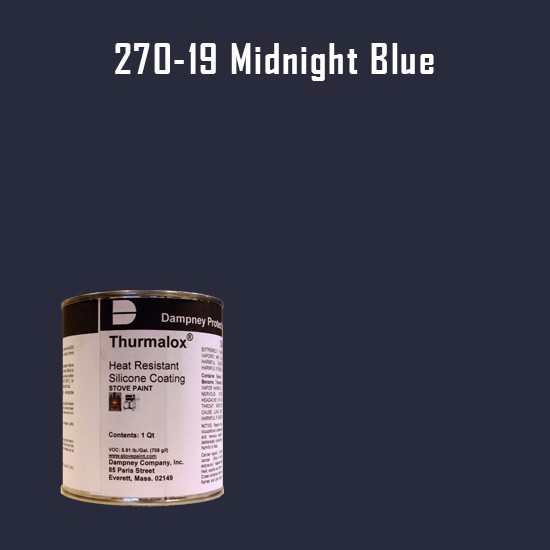 Heat Resistant Paint Colors  - Thurmalox Midnight Blue High Temperature Stove Paint - 1 Quart Can