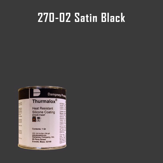 Heat Resistant Paint Colors  - Thurmalox Satin Black High Temperature Stove Paint - 1 Quart Can