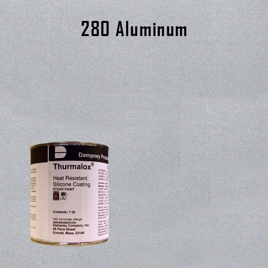 Heat Resistant Paint Colors  - Thurmalox Aluminum High Temperature Stove Paint - 1 Quart Can