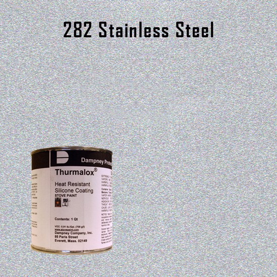 Heat Resistant Paint Colors  - Thurmalox Stainless Steel High Temperature Stove Paint - 1 Quart Can