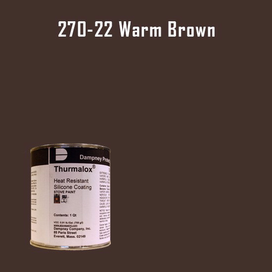 Heat Resistant Paint Colors  - Thurmalox Warm Brown High Temperature Stove Paint - 1 Quart Can