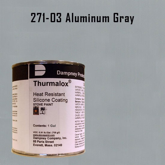 Fireplace Paint Colors  - Thurmalox Aluminum Gray High Temperature Stove Paint - 1 Gallon Can