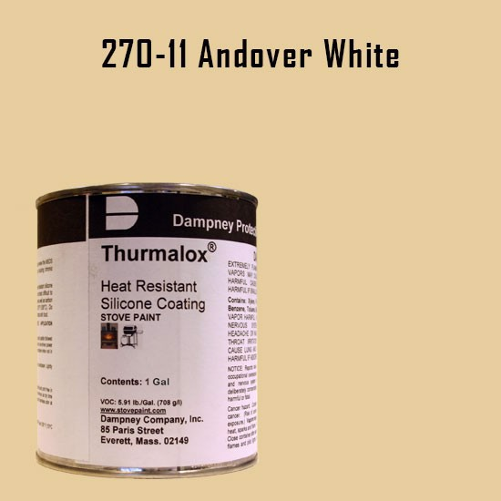 Fireplace Paint Colors  - Thurmalox Andover White High Temperature Stove Paint - 1 Gallon Can