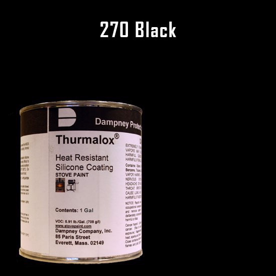 Fireplace Paint Colors  - Thurmalox Black High Temperature Stove Paint - 1 Gallon Can