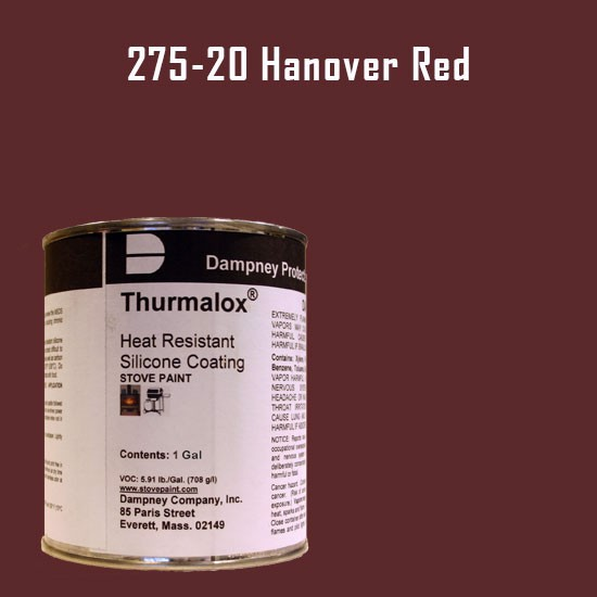 Fireplace Paint Colors  - Thurmalox Hanover Red High Temperature Stove Paint - 1 Gallon Can