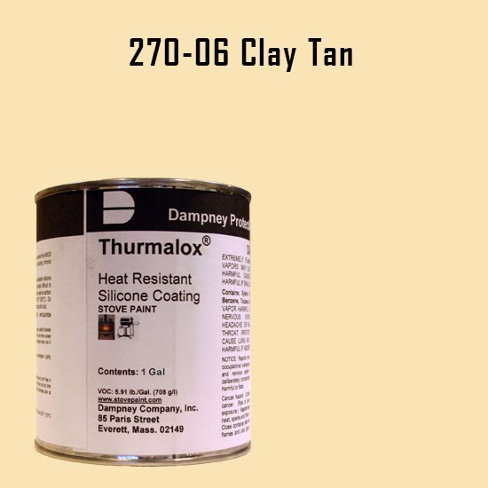 Fireplace Paint Colors  - Thurmalox Clay Tan High Temperature Stove Paint - 1 Gallon Can