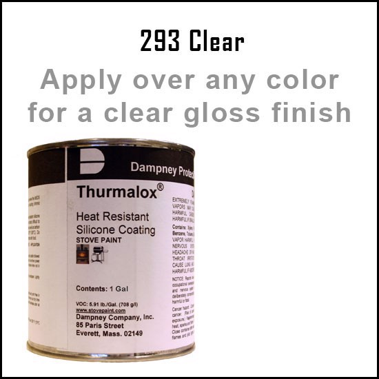 Fireplace Paint Colors  - Thurmalox Clear High Temperature Stove Paint - 1 Gallon Can