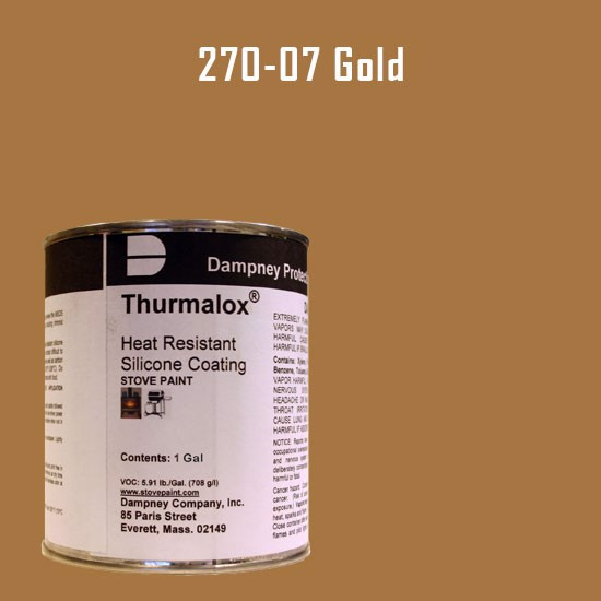 BBQ Paint - Thurmalox Gold High Temperature Stove Paint - 1 Gallon Can