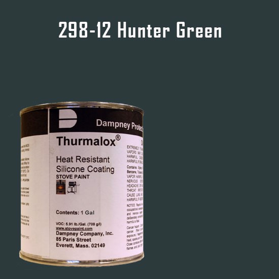 Fireplace Paint Colors  - Thurmalox Hunter Green High Temperature Stove Paint - 1 Gallon Can