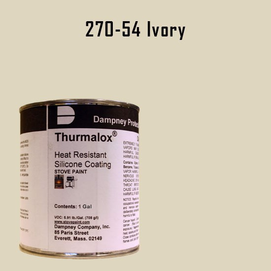 Fireplace Paint Colors  - Thurmalox Ivory High Temperature Stove Paint - 1 Gallon Can