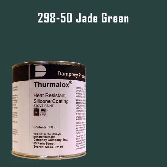 Fireplace Paint Colors  - Thurmalox Jade Green High Temperature Stove Paint - 1 Gallon Can