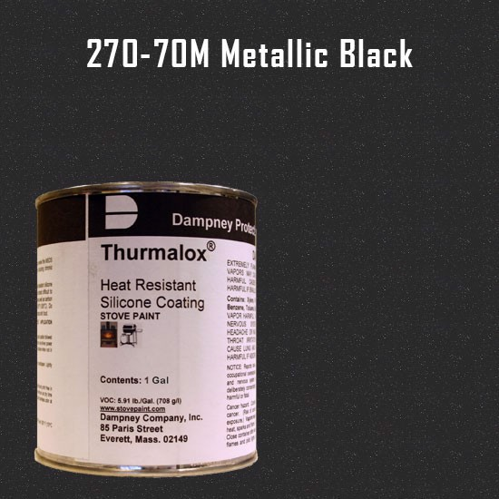 Fireplace Paint Colors  - Thurmalox Metallic Black High Temperature Stove Paint - 1 Gallon Can