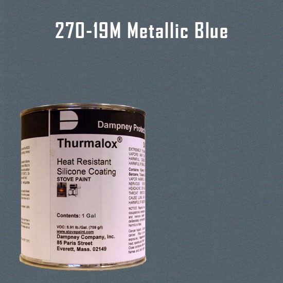 Fireplace Paint Colors  - Thurmalox Metallic Blue High Temperature Stove Paint - 1 Gallon Can