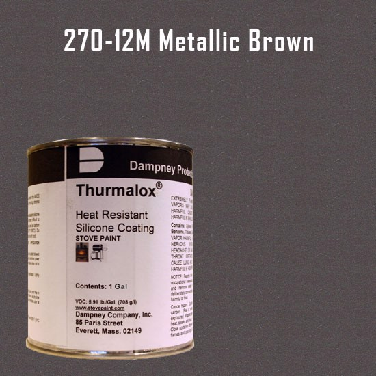 Fireplace Paint Colors  - Thurmalox Metallic Brown High Temperature Stove Paint - 1 Gallon Can