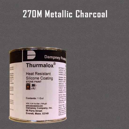 Fireplace Paint Colors  - Thurmalox Metallic Charcoal High Temperature Stove Paint - 1 Gallon Can