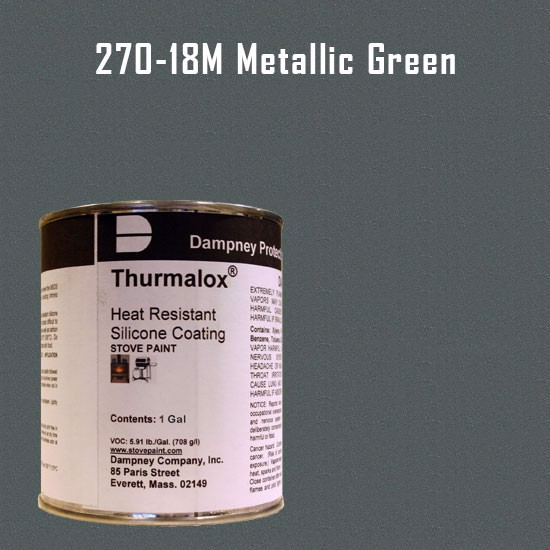 Fireplace Paint Colors  - Thurmalox Metallic Green High Temperature Stove Paint - 1 Gallon Can