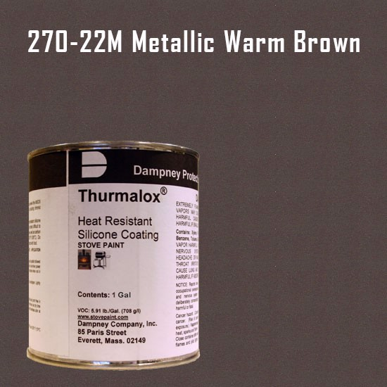Fireplace Paint Colors  - Thurmalox Metallic Warm Brown High Temperature Stove Paint - 1 Gallon Can